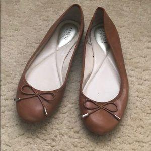 Tan slip on dress shoe